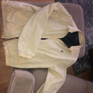 Polo Harrington jacket zip up tan cream coat plaid